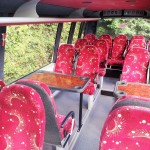 Comfortable Touring Bus with Tables Ireland