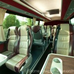VIP Irish Touring Bus Interior with Tables