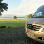 Luxury Touring Bus near the Killarney Lakes Ireland