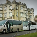 Touring Bus and Coach Ireland out side Irish Castle