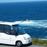 Bus Touring near the Cliffs of Moher Ireland