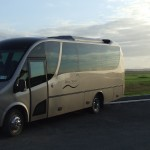 Luxury VIP Golf Bus on Location near a Hidden Links Course